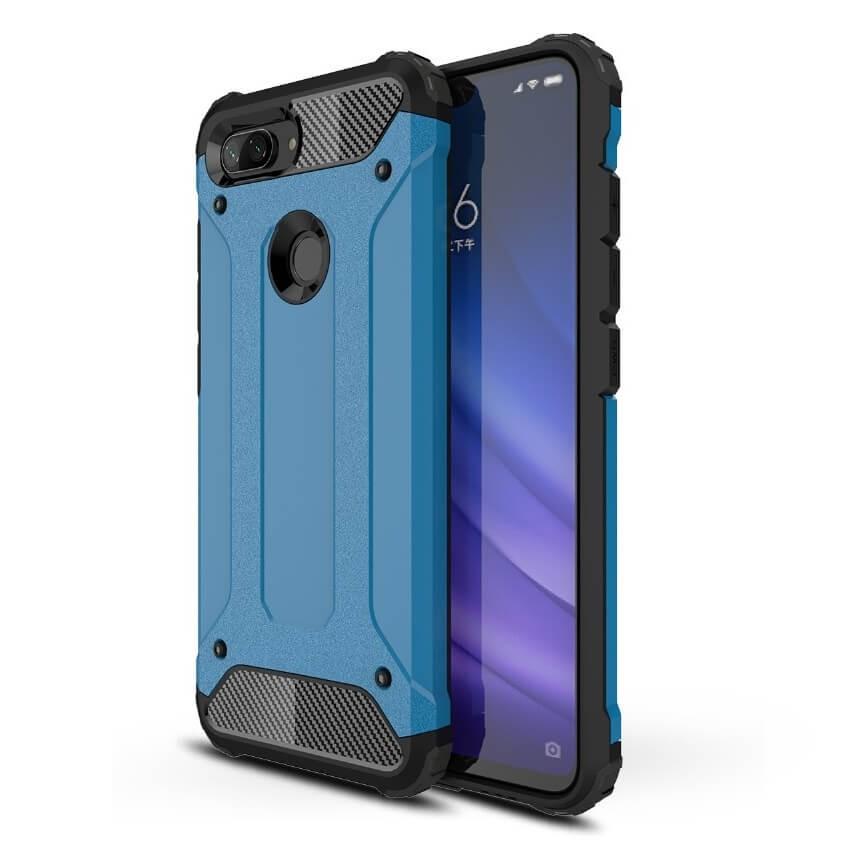 Coque Xiaomi MI 8 Lite Anti Choques Bleu