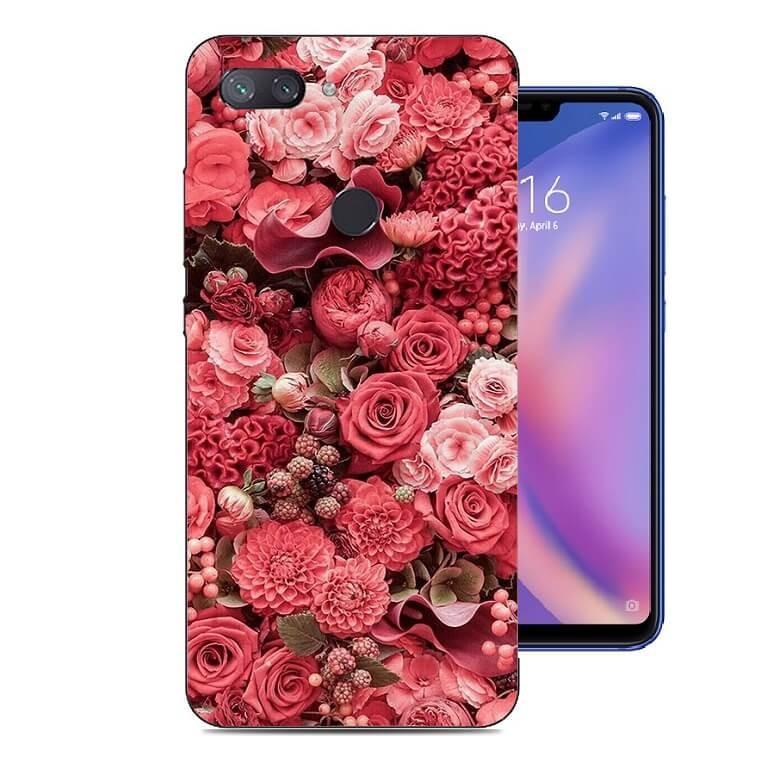 Coque Silicone Xiaomi MI 8 Lite Roses