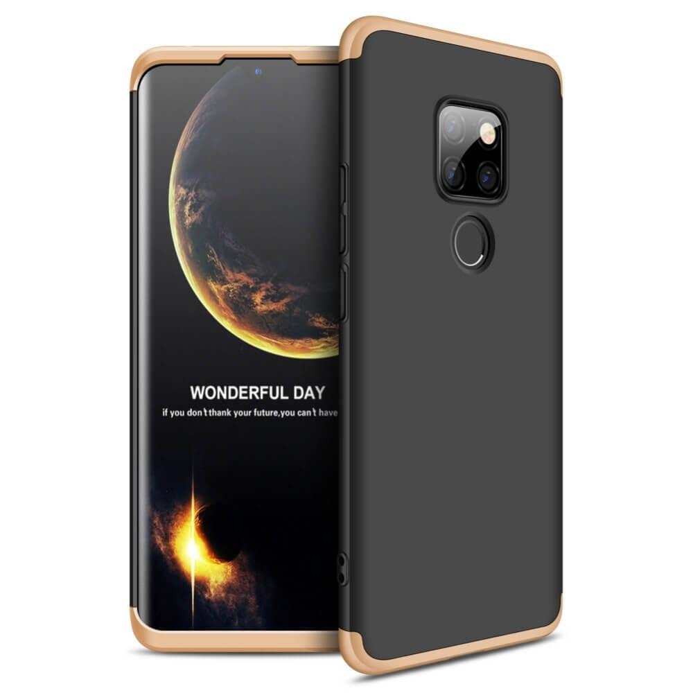 Coque 360 Huawei Mate 20 Noir et Or.