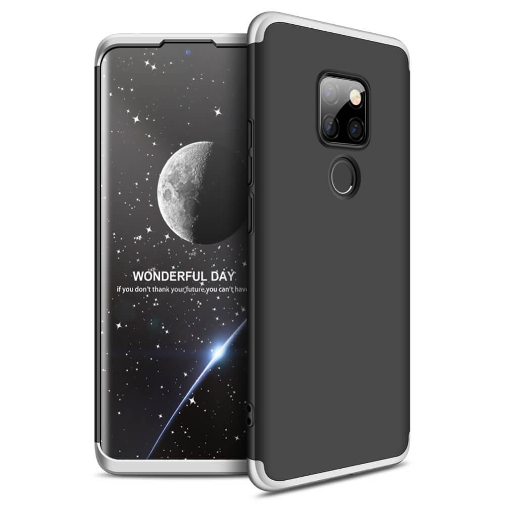 Coque 360 Huawei Mate 20 Noir et Grise.