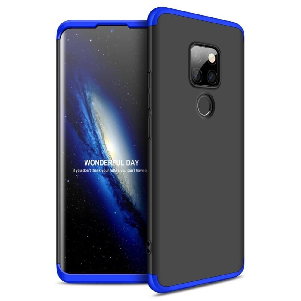 Coque 360 Huawei Mate 20 Noir et Bleu.