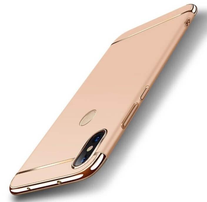 Coque Xiaomi Redmi Note 6 Pro Rigide Chromée Dorée.