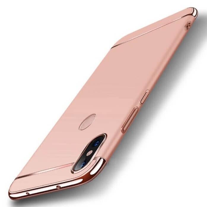 Coque Xiaomi Redmi Note 6 Pro Rigide Chromée Rose.
