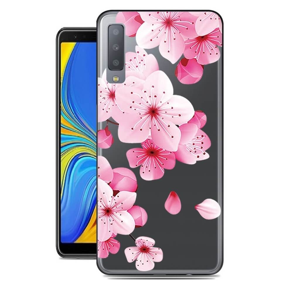 coque de telephone samsung a7 2018 fleur