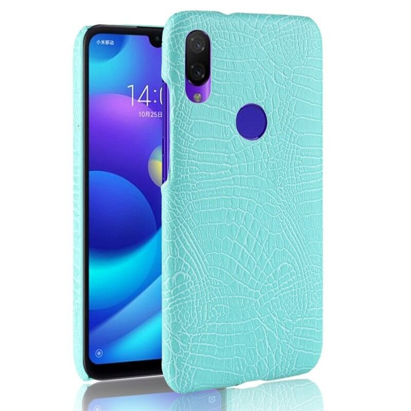 Coque Xiaomi Redmi Note 7 Croco Cuir Turquoise