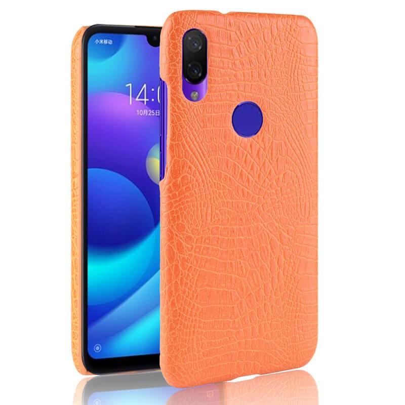 Coque Xiaomi Redmi Note 7 Croco Cuir Orange