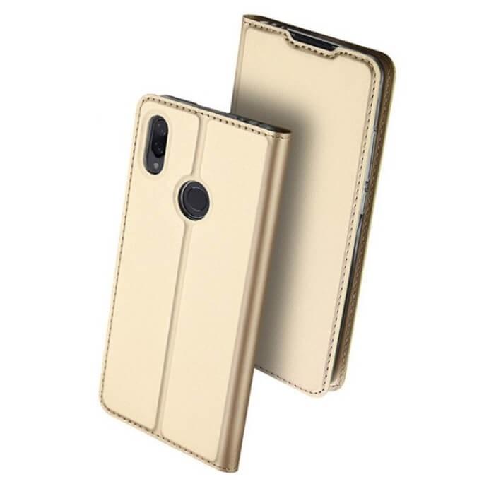 Étuis Xiaomi Redmi Note 7 Cuir DUXi doré