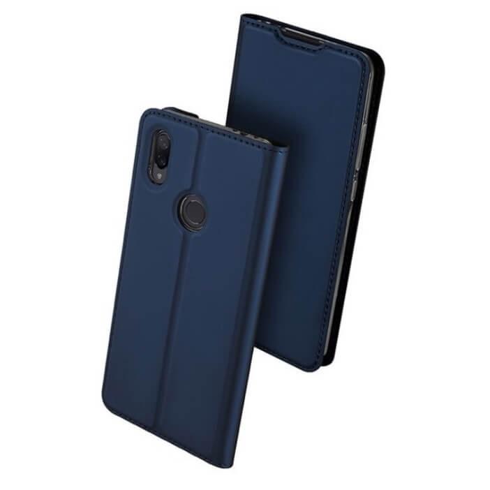 Étuis Xiaomi Redmi Note 7 Cuir DUXi bleue