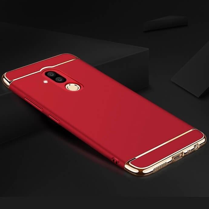 Coque Huawei Mate 20 Lite Rigide Chromée Rouge.