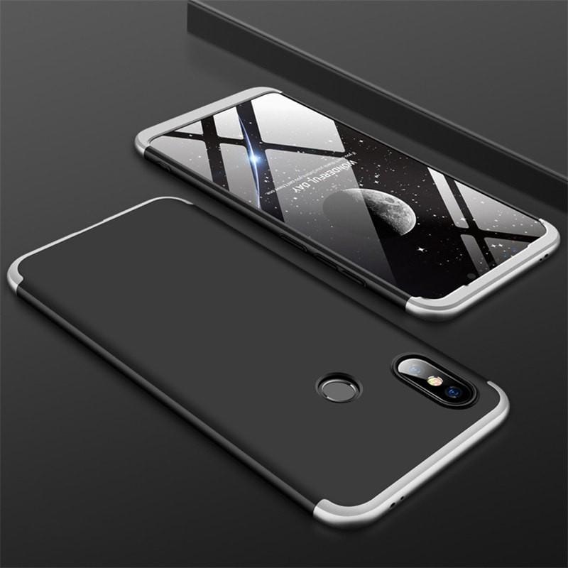 Coque 360 Xiaomi MI 8 Noir et Gris.